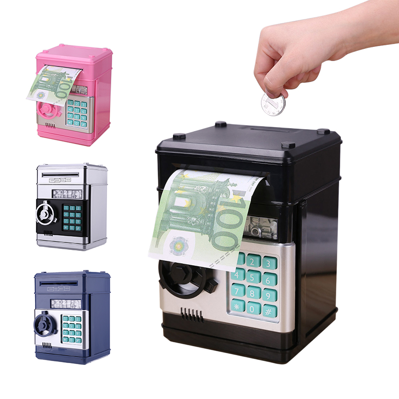 Us 4 89 24 Off Electronic Piggy Bank Safe Box Money Bo For Children Digital Coins Cash Saving Deposit Atm Machine Kid Christmas Gift In