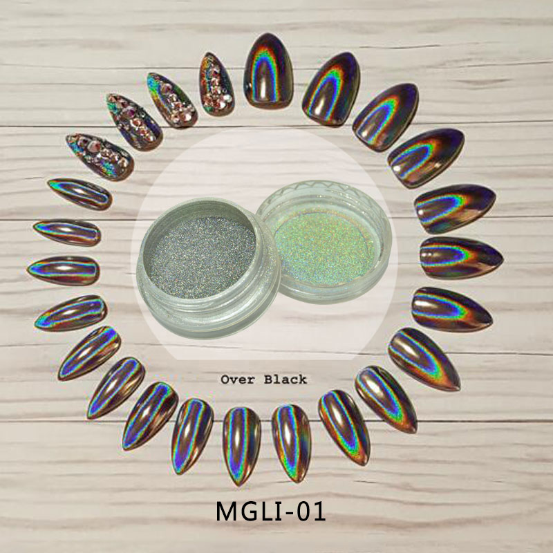 ToP Sale 2017 HOLOGRAPHIC POWDER 0.5Gram/pot RAINBOW UNICORN EFFECT MIRROR CHROME NAILS PIGMENT-MGLI-01 u022 uni t utd2052cex digital storage oscilloscope 2 channels 50mhz 1gs s