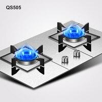 Supor 2019 QS505 Cooktops de Liquefação de Desktop Doméstico Duplo Forno Embutido Fogão A Gás Natural|Faixas| |  -