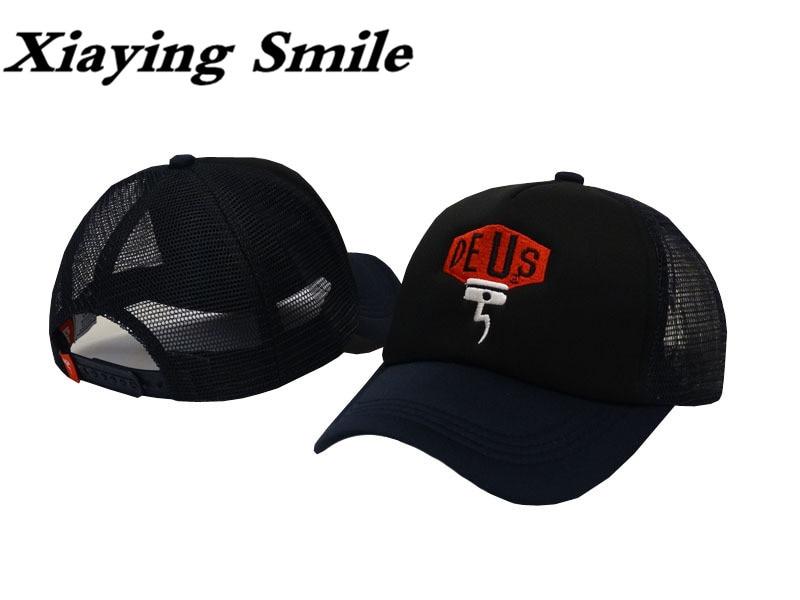 Prix pour Xiaying Sourire Mode Deus Casquette de baseball Hip Hop Chapeau de Snapback Réglable Homme Femme casual Jeunes Snap Retour Évider crâne