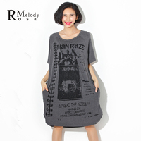 2015 Women S Summer Dress European Style Fashion Printing Long Shirt Dress For Plus Size Women