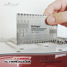 Zebra String Action Gauge Steel Ruler Guitar Guide Measuring Luthier Tool For Guitar Musical Instruments Parts