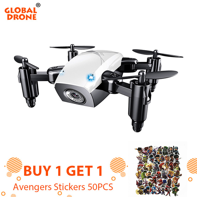 Global Drone Foldable Selfie Dron 2.4G 4CH 6-axis FPV Mini Drone With Camera Phone Control Toys For Boys Kids