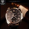 Al por mayor y al por menor Simples Números Romanos Dial Relojes de Pulsera de Cuarzo de Cuero de Los Hombres de Negocios Relojes YAZOLE Regalo de Cumpleaños 336 C91