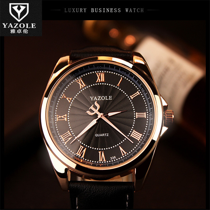 wholesale and retail simple roman numerals dial men s business wristwatches leather quartz watches birthday gift bumvor 336 c91