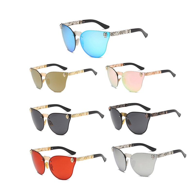 2018 вечерние поставки фестиваль вечерние Хэллоуин очки Для женщин Готический очки солнцезащитные очки череп металлический каркас храма