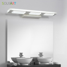SOLFART mirror light modern led sconce wall lights acryliy mirror lamp bathroom makeup room bathroom lighting mirrors ps5245