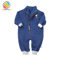 Baby Romper Cartoon Duck Embroidered Infant Clothes Newborn Jumpsuit Soft Denim Boy Girls Costume Fashion Jeans