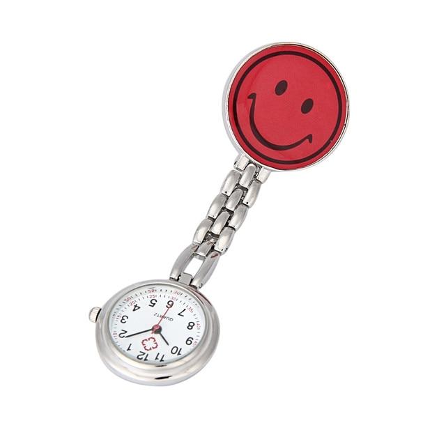 2019 Hot Sales Popular Women's Cute Smiling Faces Pendant Watches Nurse Pocket Watch Pendant Hanging Fob Brooch  Quartz Watch