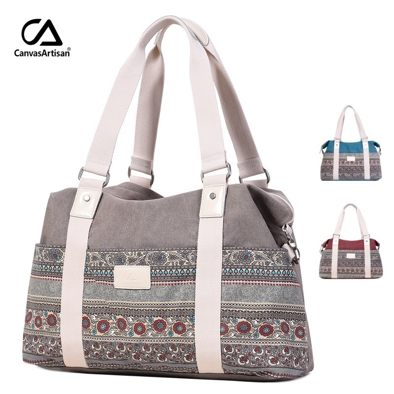 2018 New Brand Canvas Handle Bohemia Messenger Bag For Laptop 15