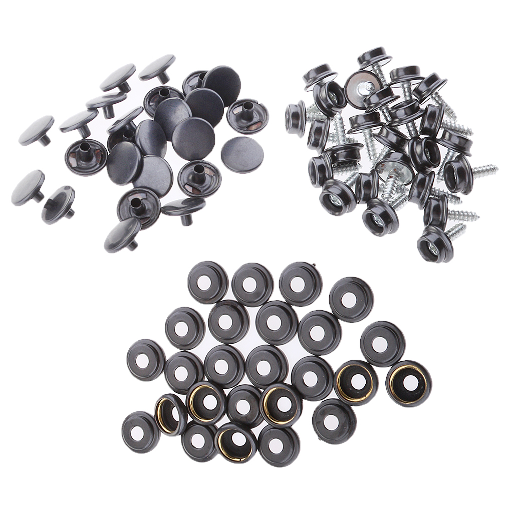 75Pcs Boat Marine Canvas Cover Snap Fasteners 12mm Screw Stud Button Socket