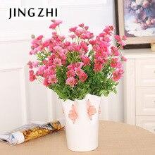 vase/ takes 11 head spring chrysanthemum flowers flower bouquet peacock silk flower wholesale flower placed Home Furnishing