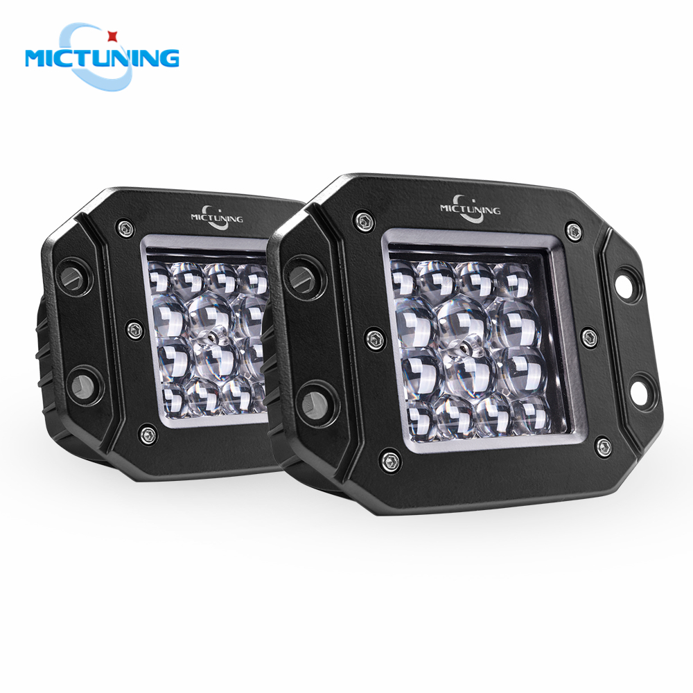 "2X 3/"" 16W Square LED Work Light Flood offroad Driving Fog Lamp Cube Pods ATV 4WD"