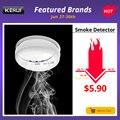 KERUI Detector de humo inalámbrico de protección contra incendios sensores de alarma portátiles para el sistema de alarma de seguridad del hogar en nuestra tienda
