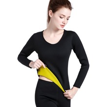 Long Sleeve Neoprene Hot Sweat Body Shaper Woman Shirt Sports Clothing Tops Slimming Running Gym Training Fitness Sportswear
