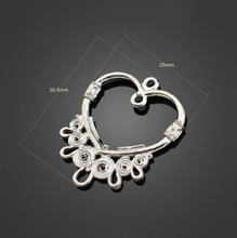 100pcs Antique Silver Love Connector Charm Pendant -Jewelry Findings Necklace Bracelet Metal Fashion Bag Accessories 30.6X25mm
