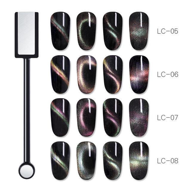 LILYCUTE 5ml Holographic 3D Cat Eye Soak Off Magnetic Nail Art UV Gel
