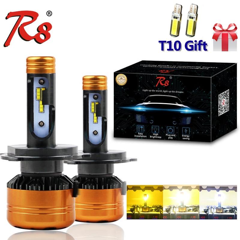 R8 Nouveau Design Z5 Double Couleur Tricolore Voiture LED Phare Ampoules H4 H13 9004 9007 50 w 5800LM 3000 k 4300 k 6000 k Bonne Qualité 3-Couleurs