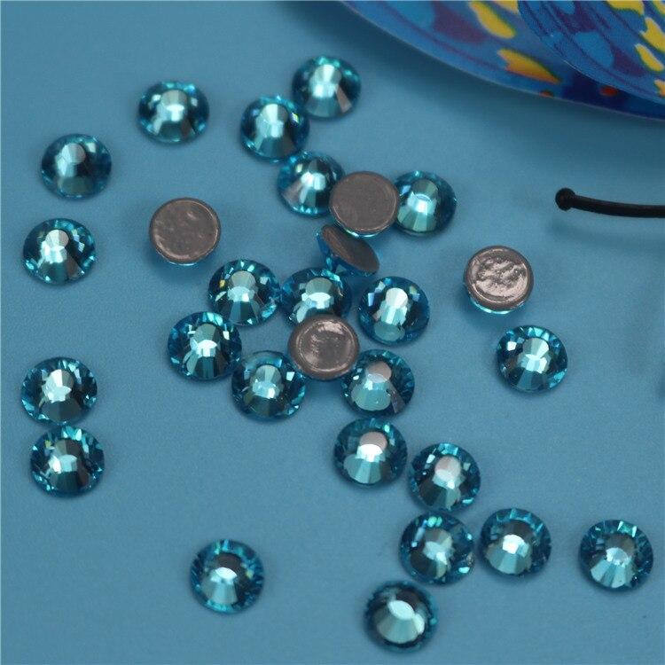 SS5-SS34(1.7-7.4mm) Aquamarine High Quality crystal DMC StoneS/ Hot Fix Rhinestones, Crystal Loose Rhinestone, DMC Hotfix Stones