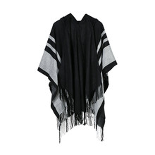 TOLINA Sexy Dark style Women Knitted Cashmere Poncho Capes Shawl Cardigans Sweater