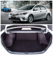 Auto Cargo Liner Trunk Mats For Toyota Corolla 2014-2017 Surrounded by all Carpets High Quality Embroidery Leather