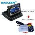 Color del coche monitor de pantalla de alambre + auto del coche que invierte la cámara 8 led de calidad superior uso para Volkswagen golf 6/Magotan