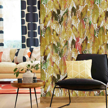 Tropical  Print Wallpaper Murals Rain Forest Banana leaves Ins Photo Studio Background Wall Paper Waterproof for Store Walls