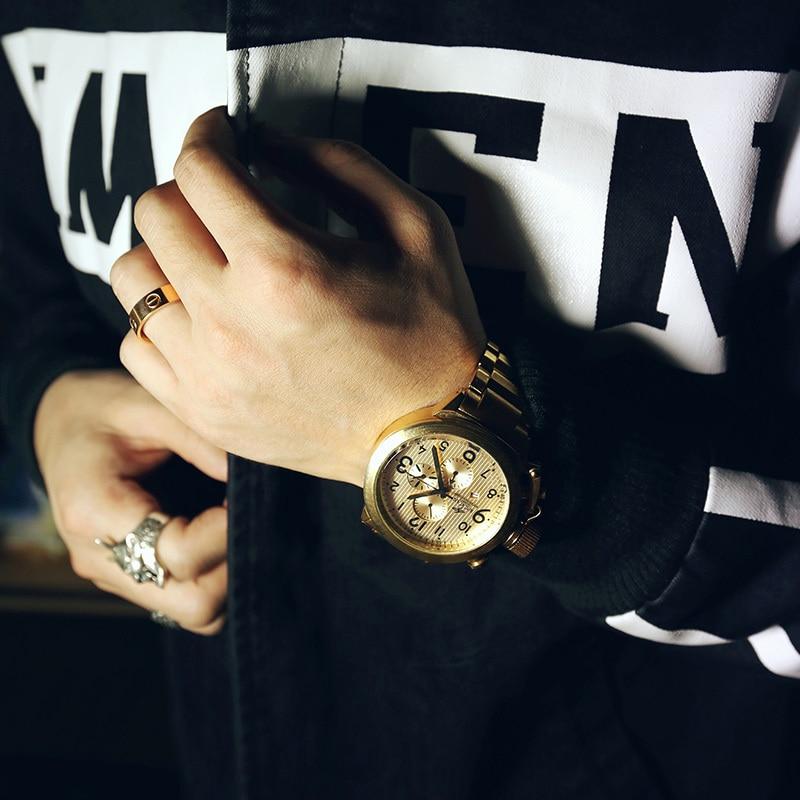 aliexpress com buy 2016 luxury brand gold quartz watch men big aliexpress com buy 2016 luxury brand gold quartz watch men big dial relogios masculinos waterproof military watches relogio masculino orologio uomo from
