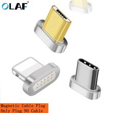 OLAF Magnetic Cable plug Type C Micro USB C 8 pin Fast Charging Adapter Phone Microusb Type-C Magnet Charger cord plugs