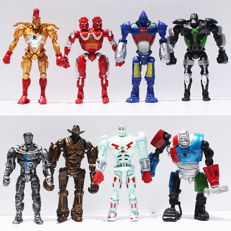 Image 3 - 8pcs/lot 12cm Real Steel Toys Atom Ambush Zeus Metro Twin Cities Noisy Boy Action Toy Figures Collection Model-in Action & Toy Figures from Toys & Hobbies