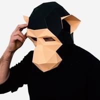 Creatieve hoofddeksels papier matrix DIY masker Halloween party Grappige voeren shot Prop Collector's Game anime thema cosplay Maskerade