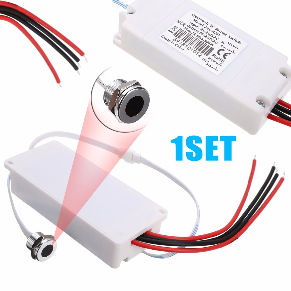 IR Motion Sensor Switch on-off Interruptores Touchless Infravermelho Detector de Luz de Controle de Luz Sensor de Corpo Humano