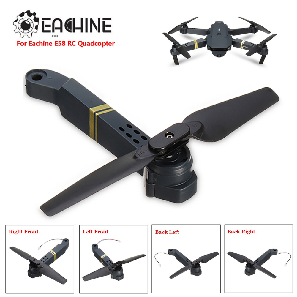 US $3 67 54% OFF|Eachine E58 RC Quadcopter Spare Parts Axis Arms with Motor  & Propeller For FPV Racing Drone Frame Parts Replacement Accs-in Parts &