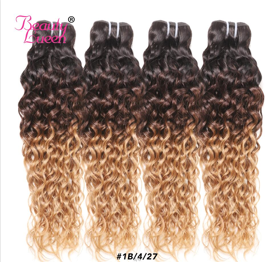Brazilian Ombre Curly Hair Bundles 1B/4/27 3 Tone Ombre Human Hair Weave Can Buy 3/4 Bundles Extensions Remy Tissage Bresiliens