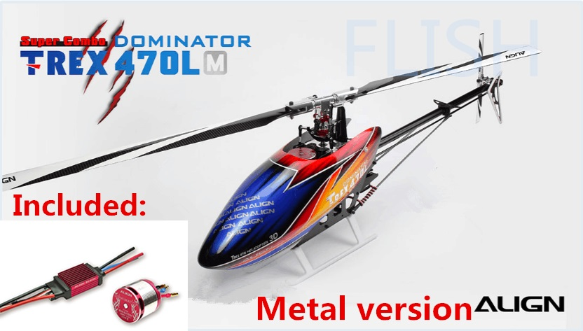 T-REX 470LM KIT  RC Helicopter (Included 50A Brushless ESC and 1800KV  Brushless Motor) RH47E06XW i m a t rex