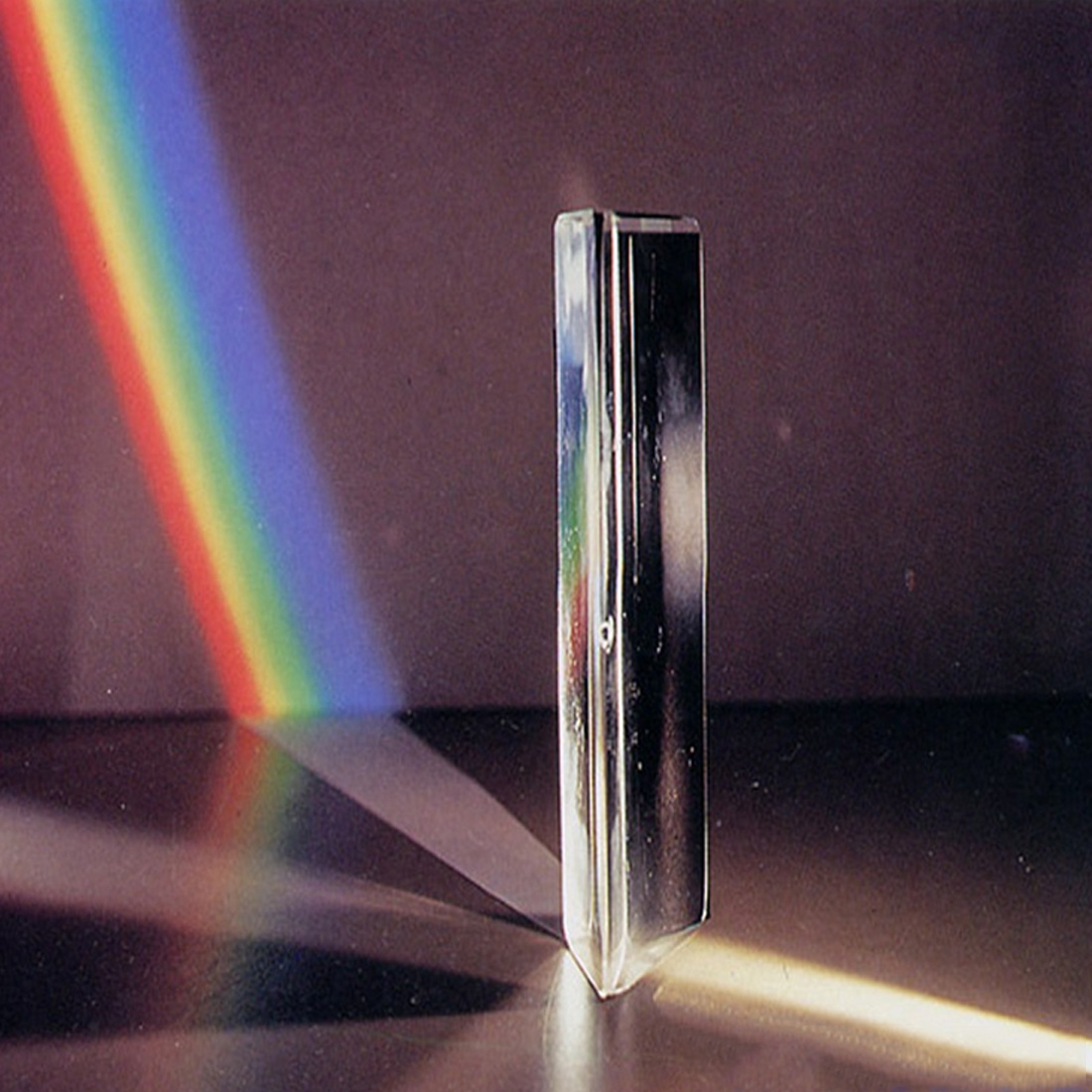 Right Angle Reflecting Triangular Prism K9 Optical Glass For Teaching Light Spectrum