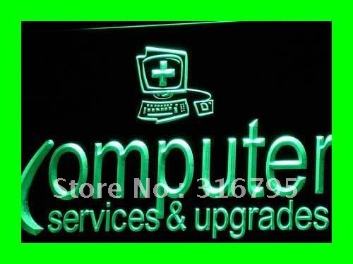 i326 Computer Services & Upgrades Repairs Light Sign On/Off Swtich 20+ Colors 5 Sizes