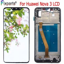 New LCD Huawei Nova 3 LCD Display +Touch Screen Digitizer Assembly Replacement Part 6.3 For Huawei Nova 3 Display Screen цена