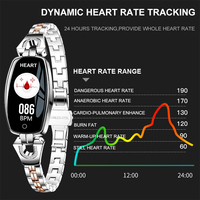 Fashionable Smart Watch for Women 0.96 OLED Blood Pressure Monitor Fitness Tracker Pedometer Waterproof Smart Watch