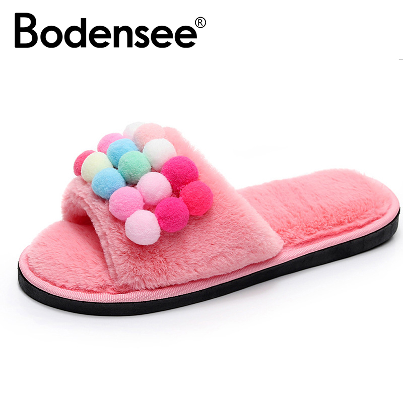 BODENSEE Women Slippers Short Plush Warm Non-slip Soft Cotton Women Slippers Loves Floor Indoor Shoes tsxpcx3030 is for tsx premium 57 tsx micro 37 tsx nano 07 tsx naza 08 and twido plc programming with master slave switch