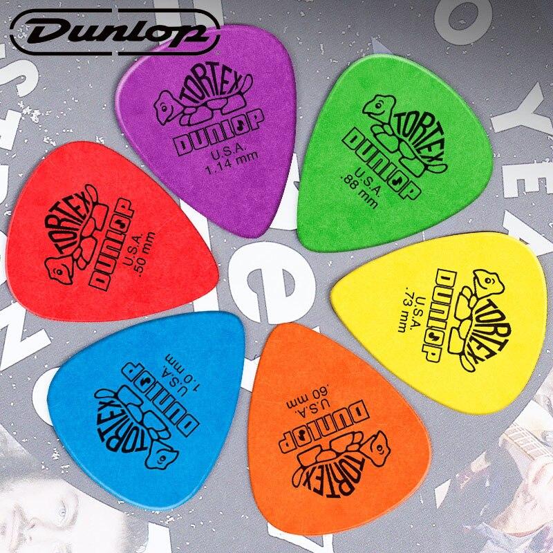 6pcs Dunlop Tortex Standard Guitar Picks Plectrum Mediator Bass Mediator Acoustic Electric Classic Guitar Parts Accessory Picks