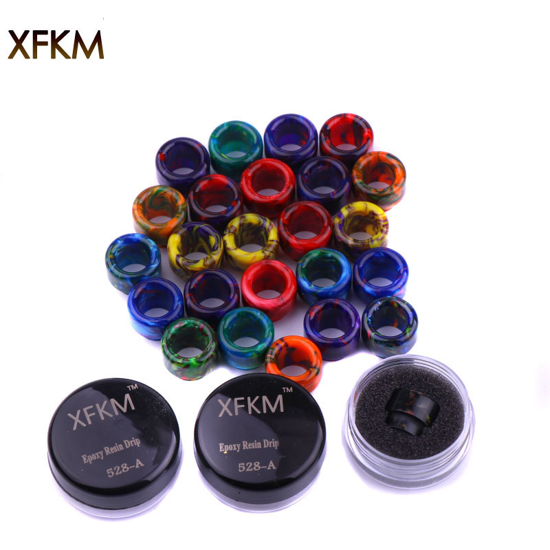NEW XFKM 810 Drip Tips Epoxy Resin Drip Tip Wide Bore Mouthpiece For Kennedy24 Battle Goon 528-A RDA Atomizers 1pcs Retail