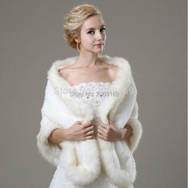 Sarahbridal 2017 lindo coelho fur jacket casamento wraps casaco branco da pele do falso wraps de noiva para casamento vestido de festa inverno