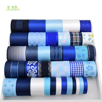 Chainho High Quality 36 Yard Mix Blue Ribbon Set For Diy Handmade Gift Craft Packing Hair