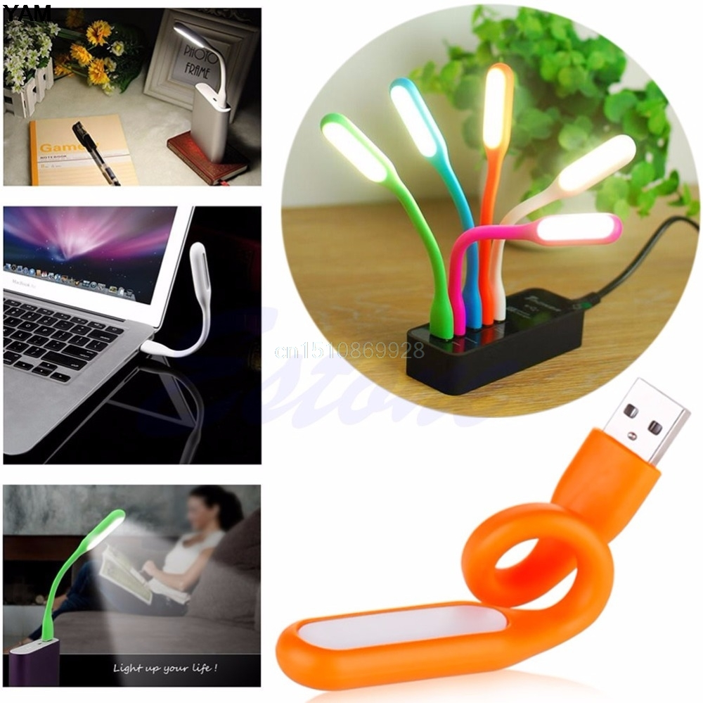 NEW Flexible USB LED Light Mini Lamp For Computer Notebook Laptop PC Power Bank