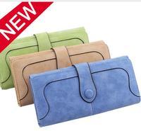 New Arrive 2017 Fashion Retro Matte Stitching Wallet Women Long Purse Clutch Women Casual Hasp Dollar