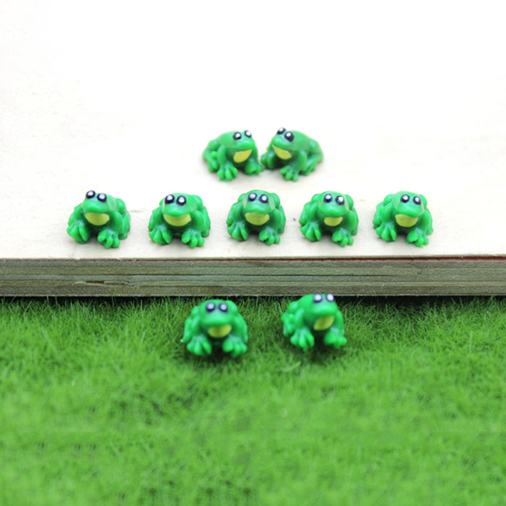 1Pcs 1/12 Dollhouse Miniature Accessories Mini Resin Frog Model Simulation Animals Toy For Doll House Decoration
