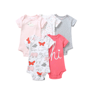 Image 3 - Mouwloze bodysuit voor de zomer baby meisje kleding pasgeboren jongen bodysuits 2019 nieuwe geboren kleding pak 5 stks/set 6  24 maand