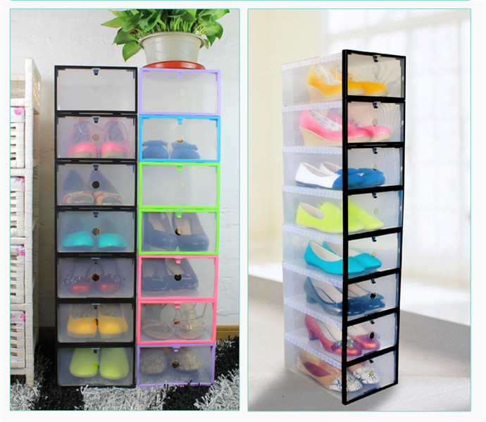Transparent Shoebox Shoes Storage Thick Plastic Box Drawer Diy Rack Cabinet  Shoe Holder College School Office Organizer Colors In Storage Boxes U0026 Bins  From ...
