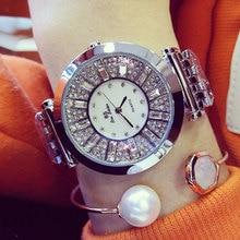 Brand 3 Colors Women Watches Crystal Round Wristwatch Modern Gold Watches For Ladies Luxury Female Quartz Watch